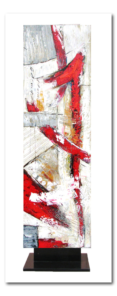 Abstract in Red/White Artstand