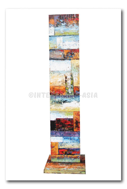 Abstract in Rainbow Tile Artstand
