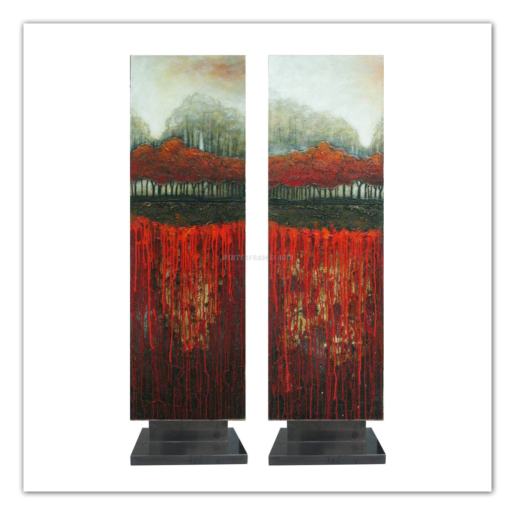 Abstract Red Trees Artstand