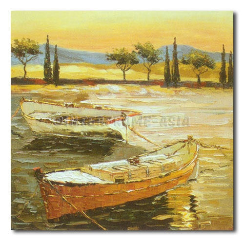 Fair Boats - Painting On Canvas at INTERFRAME-ASIA
