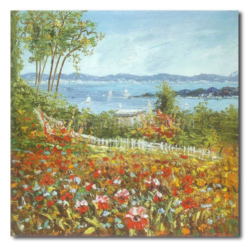 Flowers by the Seaside - Painting On Canvas at INTERFRAME-ASIA
