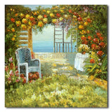 By The Garden - Painting On Canvas at INTERFRAME-ASIA