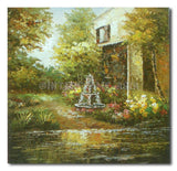 The Fountain - Painting On Canvas at INTERFRAME-ASIA