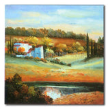 LAKE IN TUSCANY - Painting On Canvas at INTERFRAME-ASIA