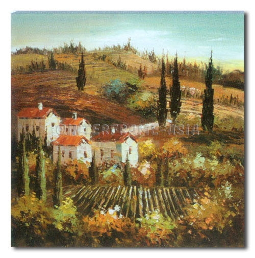 TUSCANY VINYARD - Painting On Canvas at INTERFRAME-ASIA