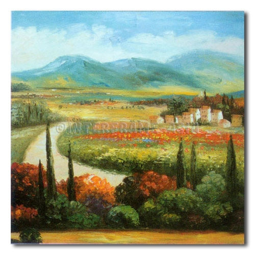 TUSCANY ROAD - Painting On Canvas at INTERFRAME-ASIA
