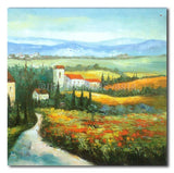 FLOWERS IN TUSCANY - Painting On Canvas at INTERFRAME-ASIA