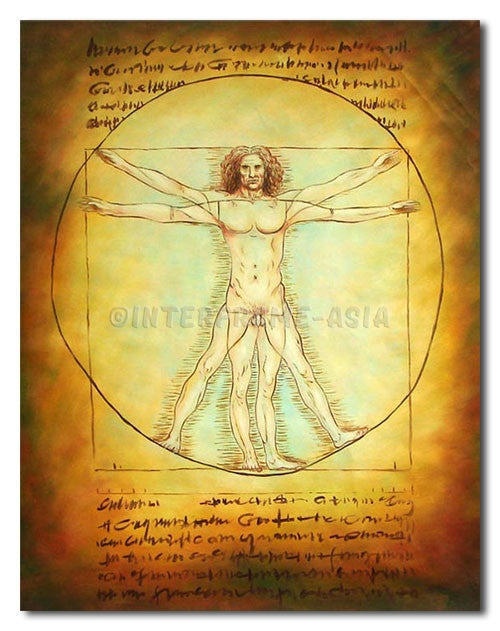 Da Vinci Drawing - Painting On Canvas at INTERFRAME-ASIA