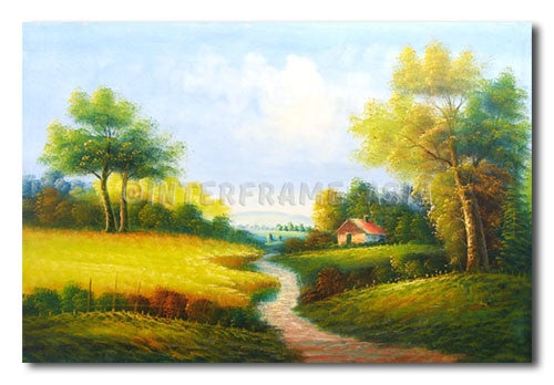 Country House - Painting On Canvas at INTERFRAME-ASIA