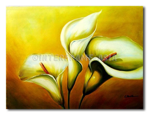 White Callas 3 - Painting On Canvas at INTERFRAME-ASIA