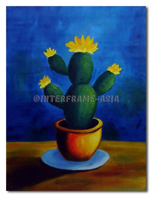Cactus - Painting On Canvas at INTERFRAME-ASIA