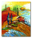 Hilltop Houses - Painting On Canvas at INTERFRAME-ASIA