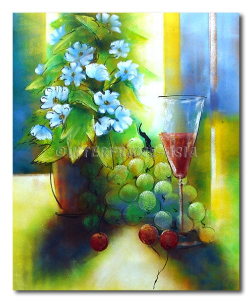 Grape and Wine - Painting On Canvas at INTERFRAME-ASIA