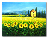 Yellow Sunflowers - Painting On Canvas at INTERFRAME-ASIA