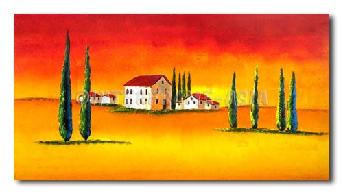 Tuscany Hotels - Painting On Canvas at INTERFRAME-ASIA