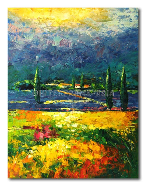 Tuscany Land - Painting On Canvas at INTERFRAME-ASIA