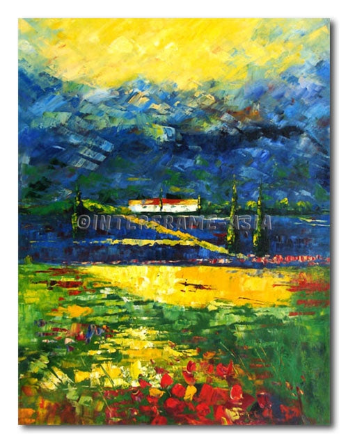 Rainbow Fields - Painting On Canvas at INTERFRAME-ASIA