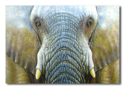 Wise Elephant - Painting On Canvas at INTERFRAME-ASIA