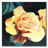 Yellow Rose - Painting On Canvas at INTERFRAME-ASIA