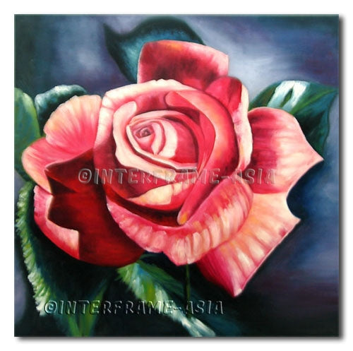 Blooming Rose - Painting On Canvas at INTERFRAME-ASIA