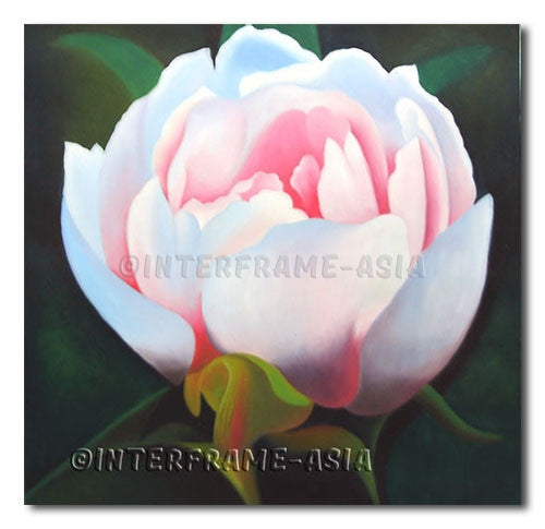 White Flower - Painting On Canvas at INTERFRAME-ASIA