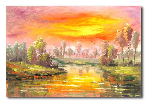 River Clouds - Painting On Canvas at INTERFRAME-ASIA