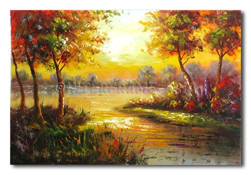 Water Way - Painting On Canvas at INTERFRAME-ASIA