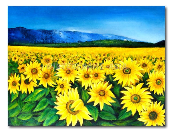 Sunflower In Spring - Painting On Canvas at INTERFRAME-ASIA