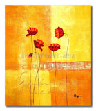 GOLDEN POPPIES - Painting On Canvas at INTERFRAME-ASIA