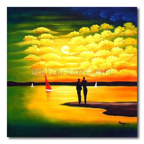 SUNSET SAILING - Painting On Canvas at INTERFRAME-ASIA