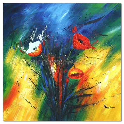 POPPIES - Painting On Canvas at INTERFRAME-ASIA