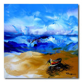 Boat on Barren - Painting On Canvas at INTERFRAME-ASIA