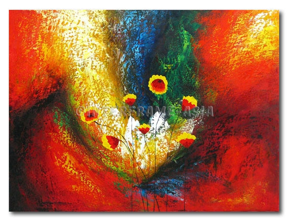 Floral Abstract - Painting On Canvas at INTERFRAME-ASIA