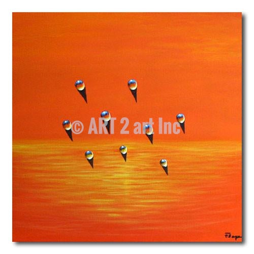 In Sunset - Painting On Canvas at INTERFRAME-ASIA