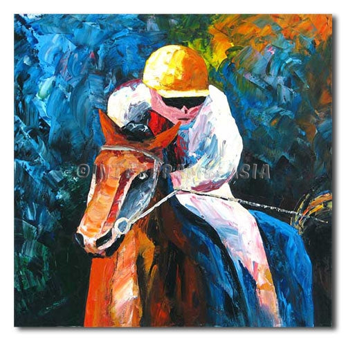 Jockey - Painting On Canvas at INTERFRAME-ASIA