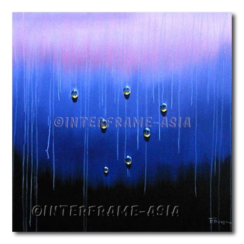 Drops on Rain - Painting On Canvas at INTERFRAME-ASIA