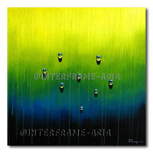 Rain on Verdant - Painting On Canvas at INTERFRAME-ASIA