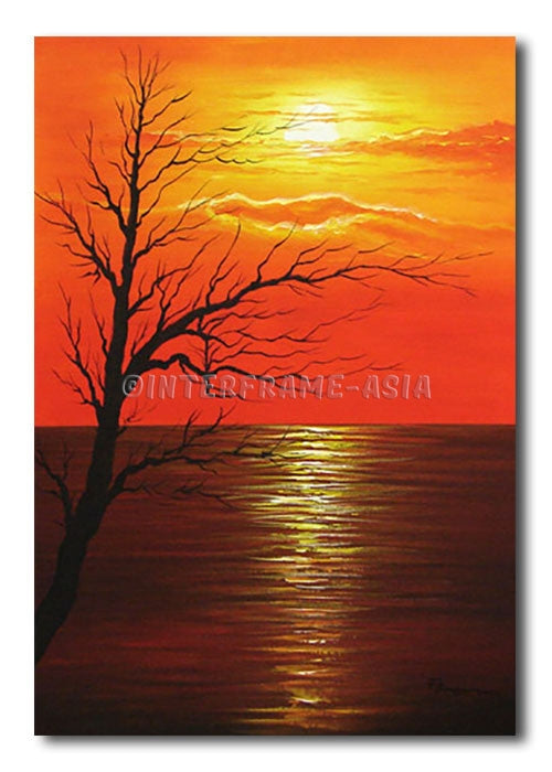 SUNSET TREE - Painting On Canvas at INTERFRAME-ASIA