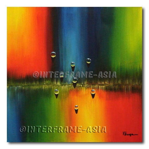 Rainbow Drops - Painting On Canvas at INTERFRAME-ASIA