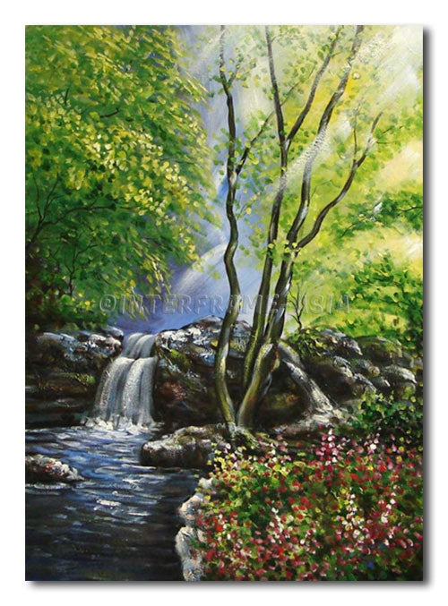 SMALL WATER FALL - Painting On Canvas at INTERFRAME-ASIA