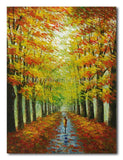 UNDER THE TREE ROAD - Painting On Canvas at INTERFRAME-ASIA