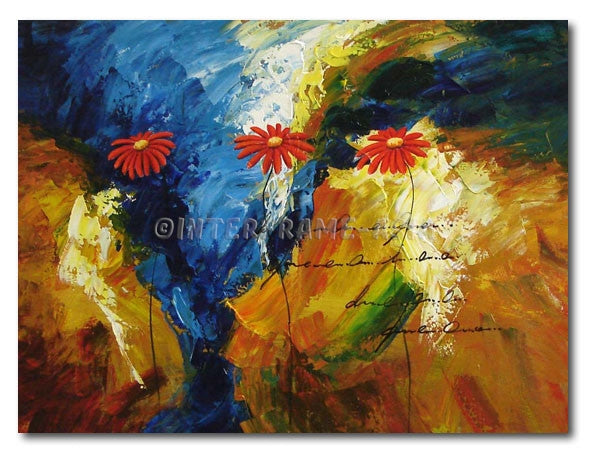 Letter For Red Daisies - Painting On Canvas at INTERFRAME-ASIA