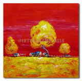 COUNTRY HOMES - Painting On Canvas at INTERFRAME-ASIA