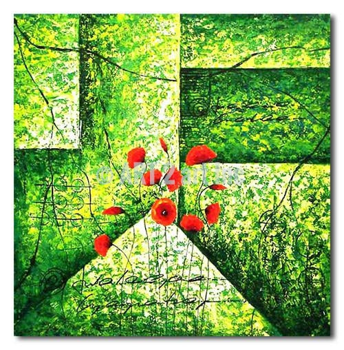 ON GREEN PALLETE - Painting On Canvas at INTERFRAME-ASIA