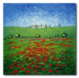 POPPIES FIELD - Painting On Canvas at INTERFRAME-ASIA