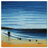 WALK IN THE BEACH - Painting On Canvas at INTERFRAME-ASIA
