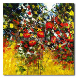 POPPIES ON YELLOW GRASS - Painting On Canvas at INTERFRAME-ASIA