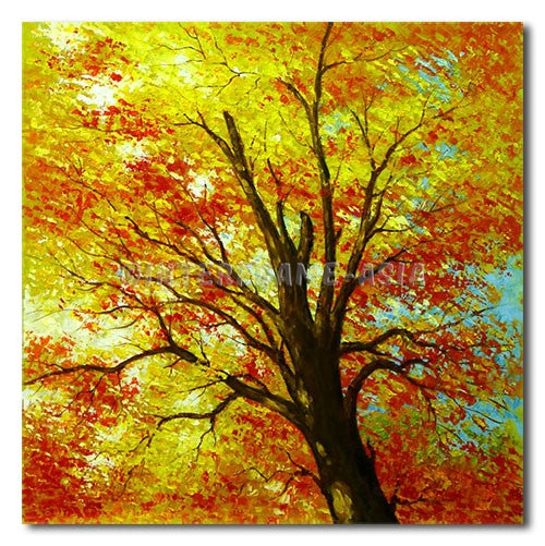 GOLDEN TREE - Painting On Canvas at INTERFRAME-ASIA