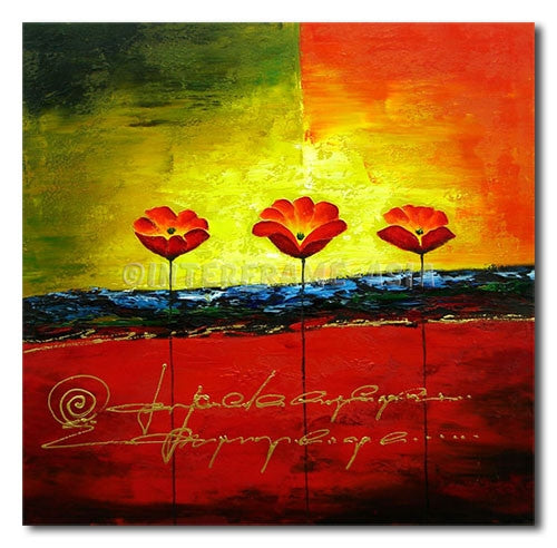 HIGH POPPIES - Painting On Canvas at INTERFRAME-ASIA