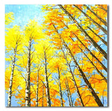 Yellow Trees - Painting On Canvas at INTERFRAME-ASIA